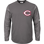 Majestic Men's Cincinnati Reds Therma Base Authentic Collection Pullover Tech Fleece