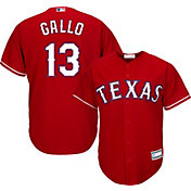 Majestic Men's Replica Texas Rangers Joey Gallo #13 Cool Base Alternate Red Jersey