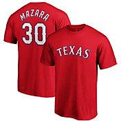 Majestic Men's Texas Rangers Nomar Mazara #30 Red T-Shirt