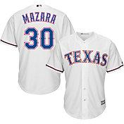Majestic Men's Replica Texas Rangers Nomar Mazara #30 Cool Base Home White Jersey