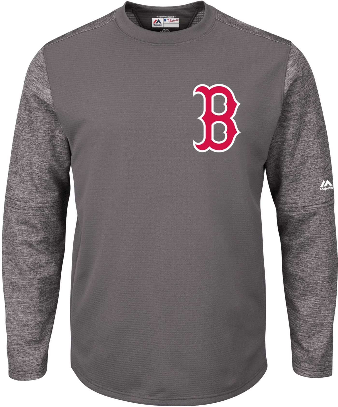 Majestic Men's Boston Red Sox Therma Base Authentic Collection Pullover Tech Fleece
