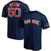 Majestic Men's Boston Red Sox Mookie Betts #50 Championship Gold T-Shirt
