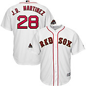 Majestic Men's Replica Boston Red Sox J.D. Martinez #28 Championship Gold Cool Base Jersey