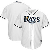 Majestic Men's Replica Tampa Bay Rays Cool Base Home White Jersey