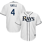 Majestic Men's Replica Tampa Bay Rays Blake Snell #4 Cool Base Home White Jersey