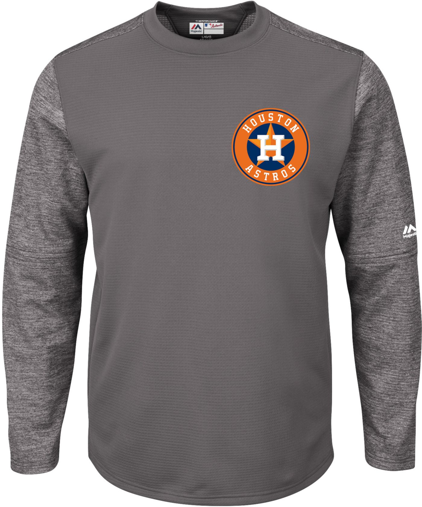 Majestic Men's Houston Astros Therma Base Authentic Collection Pullover Tech Fleece
