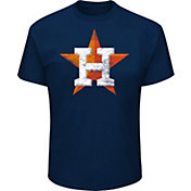 Majestic Big and Tall Men's Houston Astros Navy Tri-blend T-Shirt