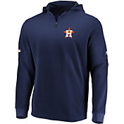Majestic Men's Houston Astros Authentic Collection Batting Practice Waffle Hooded Pullover