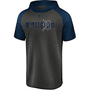 Majestic Men's Detroit Tigers Authentic Collection Raglan Pullover Short Sleeve Hoodie