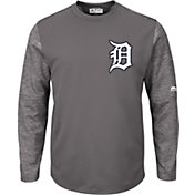Majestic Men's Detroit Tigers Therma Base Authentic Collection Pullover Tech Fleece