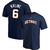 Majestic Men's Detroit Tigers Al Kaline #6 Navy T-Shirt