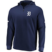 Majestic Men's Detroit Tigers Authentic Collection Batting Practice Waffle Hooded Pullover