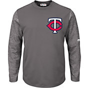 Majestic Men's Minnesota Twins Therma Base Authentic Collection Pullover Tech Fleece