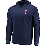 Majestic Men's Minnesota Twins Authentic Collection Batting Practice Waffle Hooded Pullover