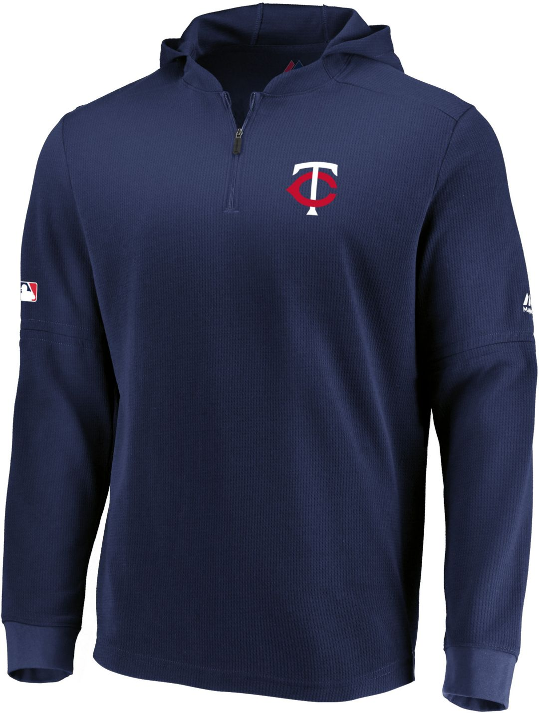 best website 1c291 4ba50 Majestic Men's Minnesota Twins Authentic Collection Batting Practice Waffle  Hooded Pullover