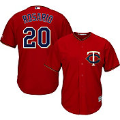 Majestic Men's Replica Minnesota Twins Eddie Rosario #20 Cool Base Alternate Red Jersey