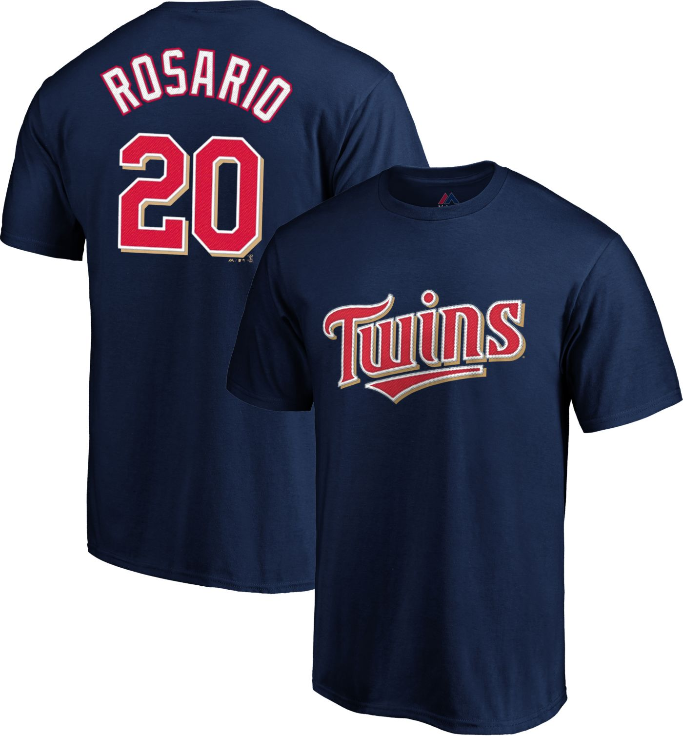 Majestic Men's Minnesota Twins Eddie Rosario #20 Navy T-Shirt