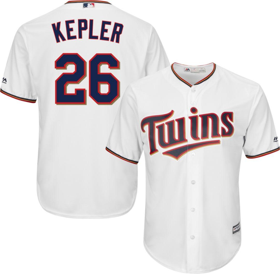 wholesale dealer 2f98b 79e15 Majestic Men's Replica Minnesota Twins Max Kepler #26 Cool Base Home White  Jersey