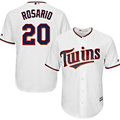 Majestic Men's Replica Minnesota Twins Eddie Rosario #20 Cool Base Home White Jersey