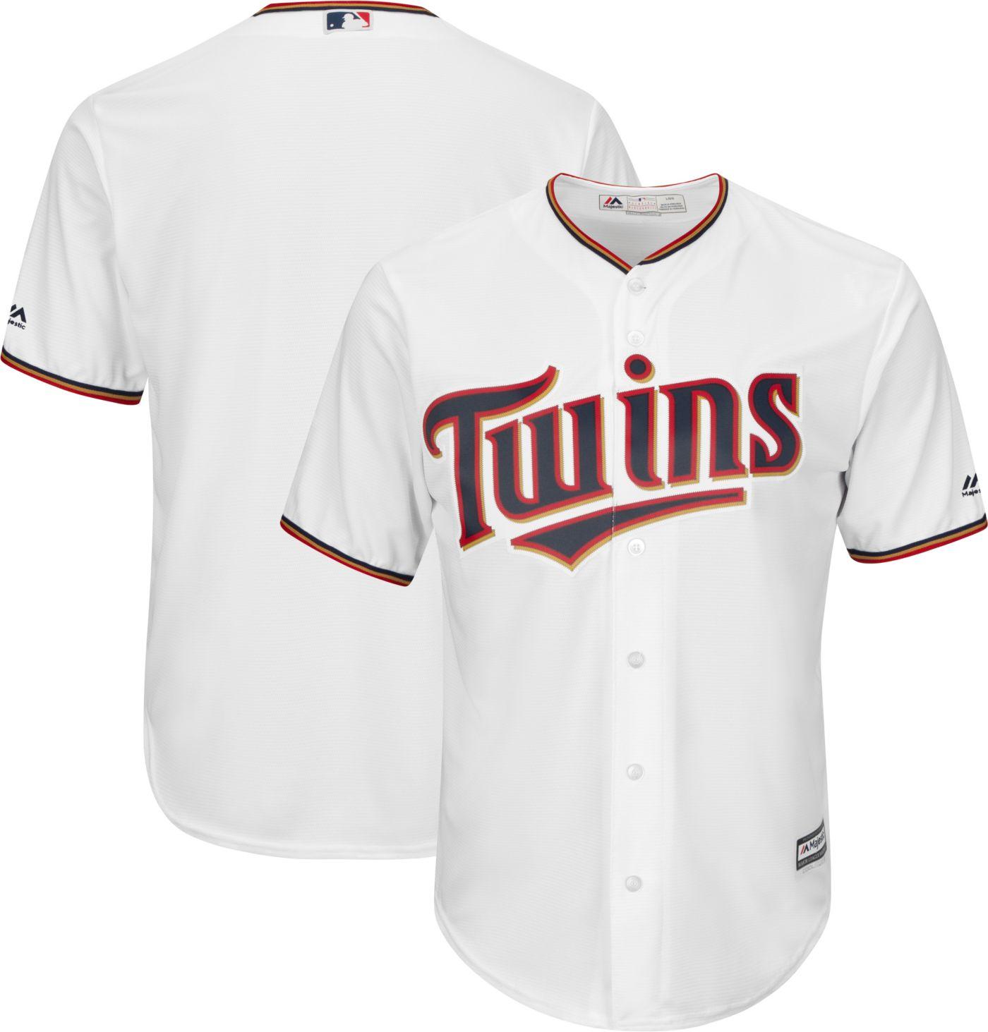 Majestic Men's Replica Minnesota Twins Cool Base Home White Jersey