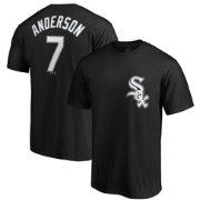Majestic Men's Chicago White Sox Tim Anderson #7 Black T-Shirt