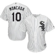 Majestic Men's Replica Chicago White Sox Yoan Moncada #10 Cool Base Home White Jersey