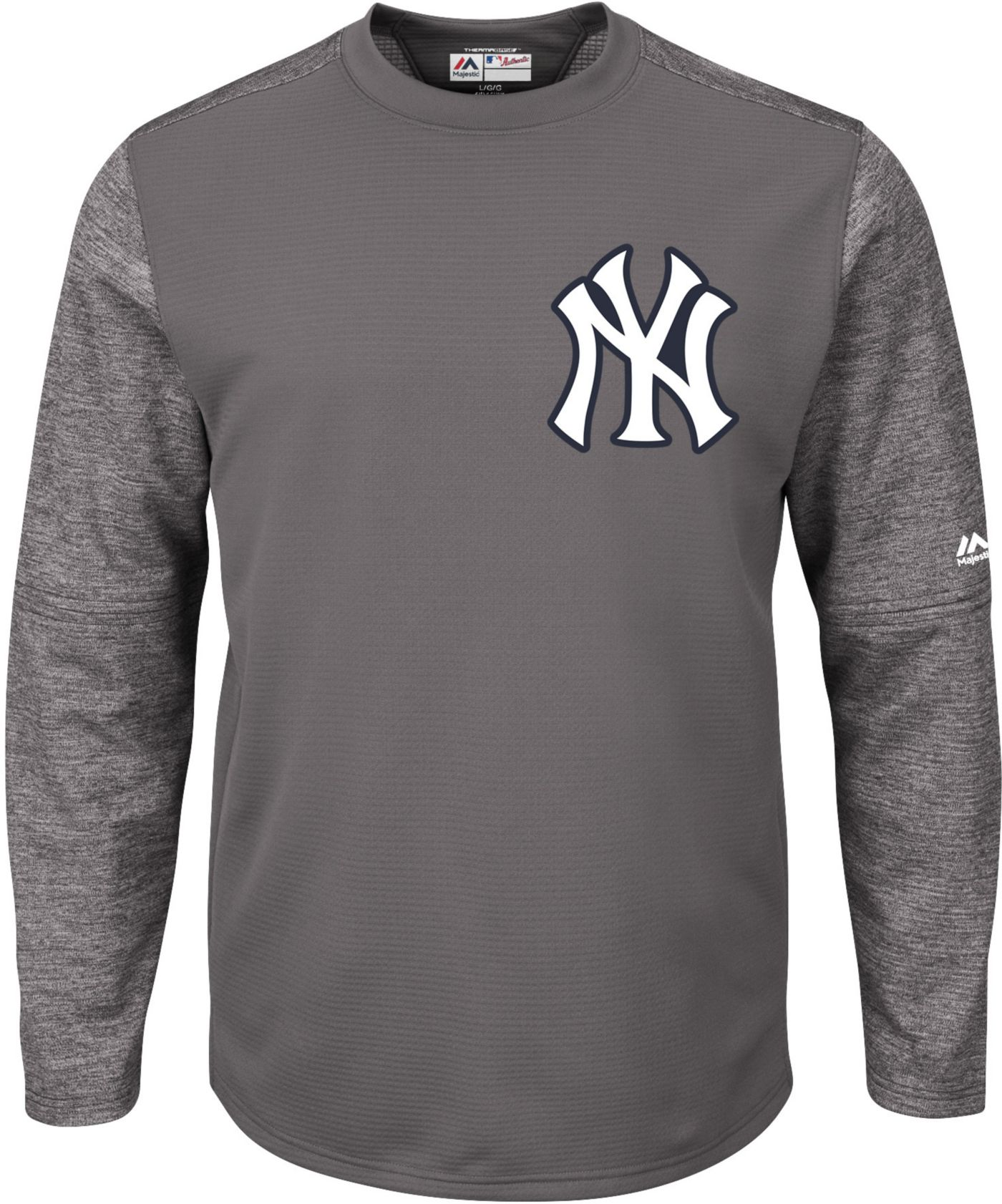 Majestic Men's New York Yankees Therma Base Authentic Collection Pullover Tech Fleece