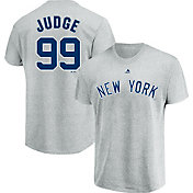 Majestic Men's New York Yankees Aaron Judge #99 Grey T-Shirt