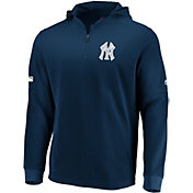Majestic Men's New York Yankees Authentic Collection Batting Practice Waffle Hooded Pullover