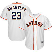 Majestic Men's Replica Houston Astros Michael Brantley #23 Cool Base Home White Jersey