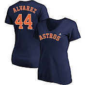Majestic Women's Houston Astros Yordan Alvarez #44 Navy V-Neck T-Shirt