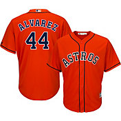 Majestic Men's Replica Houston Astros Yordan Alvarez #44 Cool Base Alternate Orange Jersey