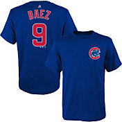 Majestic Toddler Chicago Cubs Javier Baez #9 Royal T-Shirt