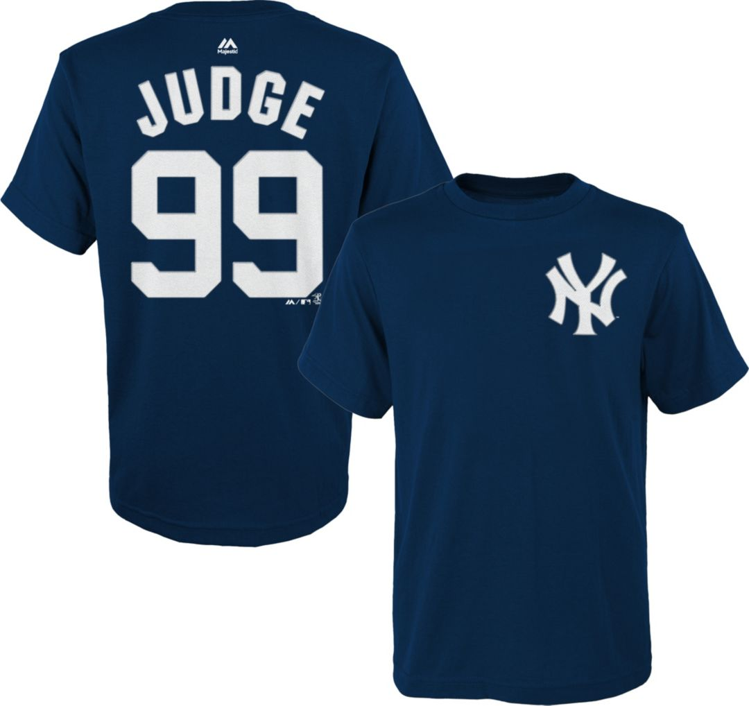 buy online 46a66 98697 Majestic Toddler New York Yankees Aaron Judge #99 Navy T-Shirt