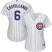 Majestic Women's Replica Chicago Cubs Nick Castellanos #6 Cool Base Home White Jersey