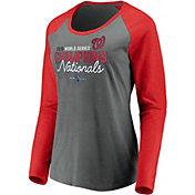 Women's 2019 World Series Champions Washington Nationals Raglan Long Sleeve Shirt