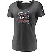 Women's 2019 National League Champions Locker Room Washington Nationals V-Neck T-Shirt