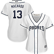 Majestic Women's Replica San Diego Padres Manny Machado #13 Cool Base Home White Jersey