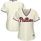 Majestic Women's Replica Philadelphia Phillies Cool Base Alternate Ivory Jersey