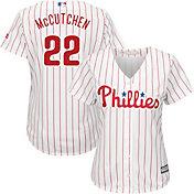 Majestic Women's Replica Philadelphia Phillies Andrew McCutchen #22 Cool Base Alternate Red Jersey