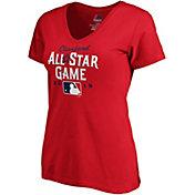 Majestic Women's 2019 MLB All-Star Game Red V-Neck T-Shirt
