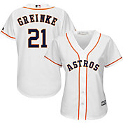 Majestic Women's Replica Houston Astros Zack Greinke #21 Cool Base Home White Jersey