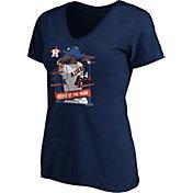Majestic Women's Houston Astros Yordan Alvarez Navy 2019 Rookie of the Year V-neck T-Shirt