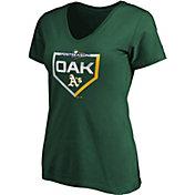 Majestic Women's Oakland Athletics 2019 MLB Postseason V-Neck Shirt