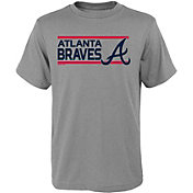 Gen2 Youth Atlanta Braves Dri-Tek Grey T-Shirt