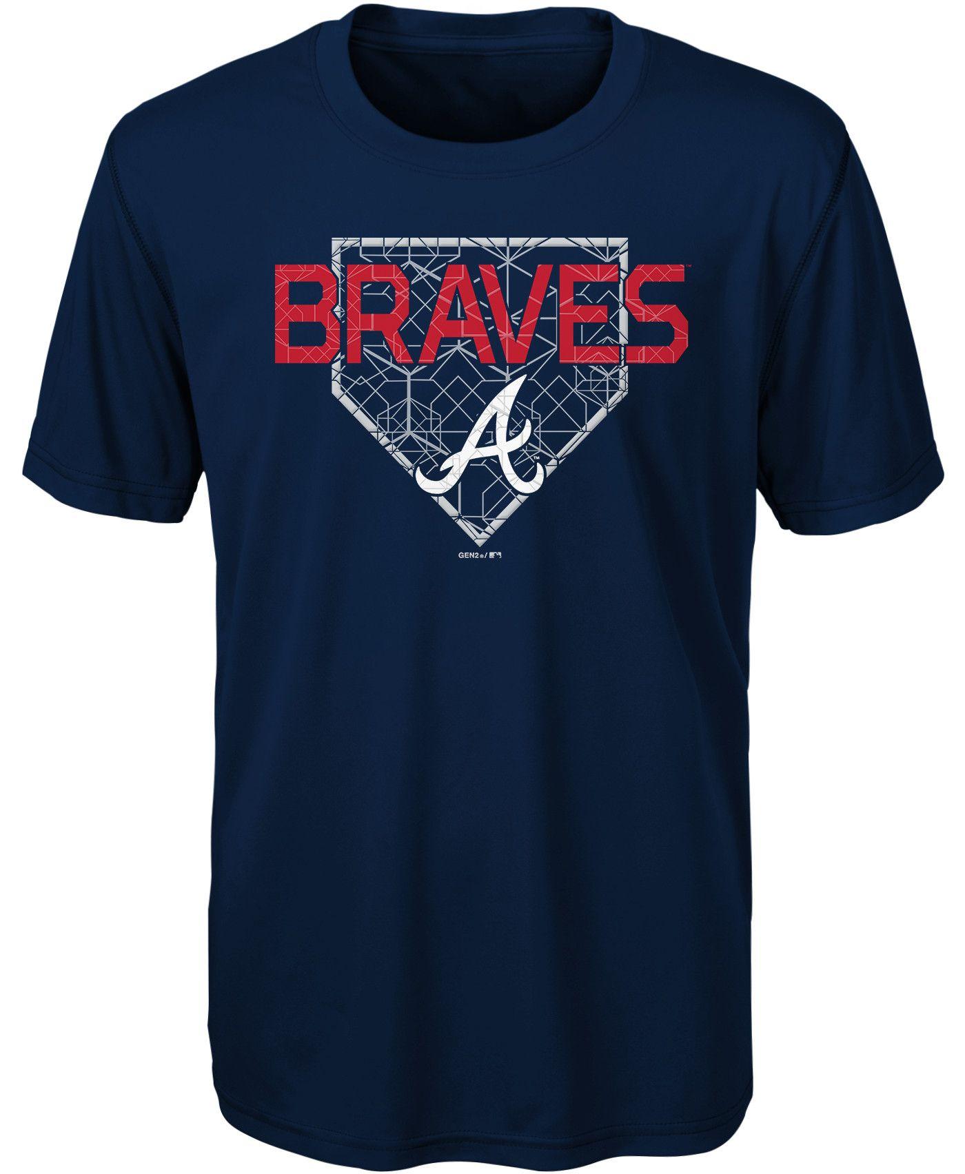 Gen2 Youth Atlanta Braves Dri-Tek Navy T-Shirt