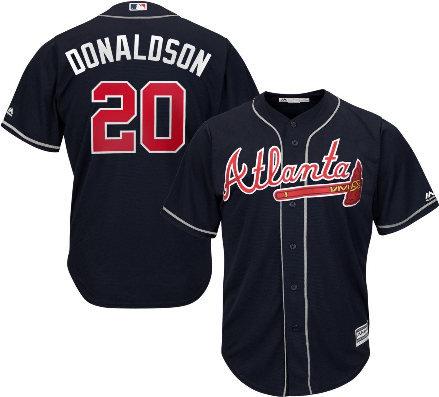 Majestic Youth Replica Atlanta Braves Josh Donaldson #20 Cool Base Alternate Navy Jersey