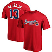 Majestic Youth Atlanta Braves Ronald Acuna #13 Red T-Shirt