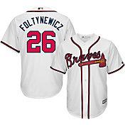 Majestic Youth Replica Atlanta Braves Mike Foltynewicz #26 Cool Base Home White Jersey
