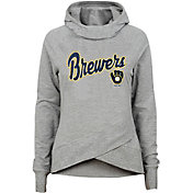 Gen2 Youth Girls' Milwaukee Brewers Funnel Neck Pullover Hoodie